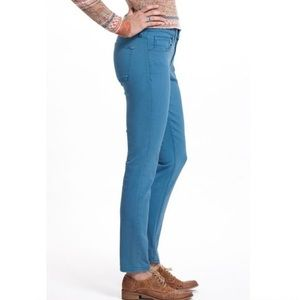 Pilcro Letterpress Teal Skinny Jeans
